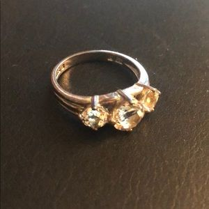 3 Stone Ring with faux diamonds - Women's, size 8